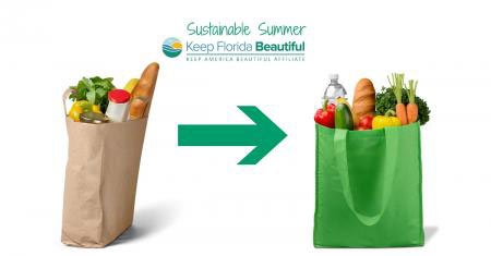 5 Tips for a Sustainable Summer: Reuse Bags | Keep Florida Beautiful Blog