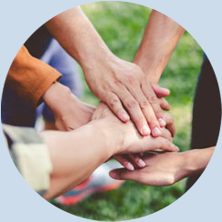 Hands Placed on Top of one Another | Help Keep Florida Beautiful and Stay Socially Connected - Learn More about Corporate Membership Opportunities