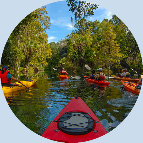 Kayaking in a Florida Reserve   Environmental Education with Keep Florida Beautiful Litter Prevention, Recycling, and Education