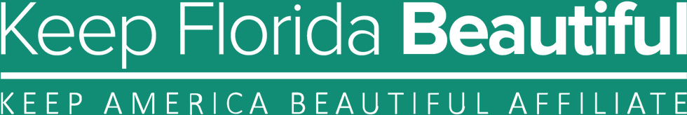 Keep Florida Beautiful White Text Logo
