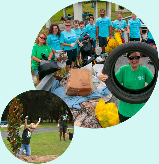 Individuals doing their part to help Keep Florida Beautiful - Cleanup Initiatives