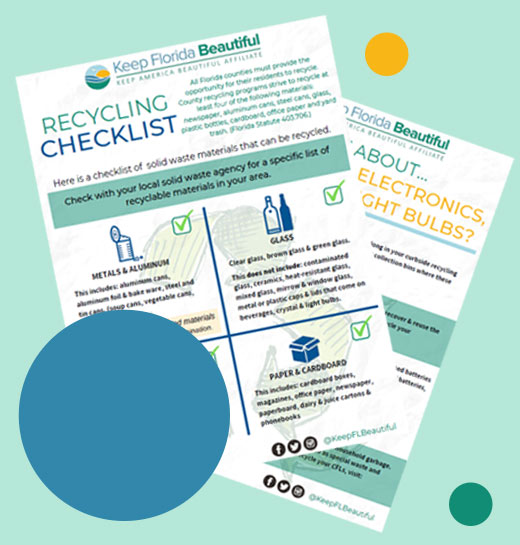 Recycling Checklist Preview Image | Keep Florida Beautiful: Litter Prevention, Recycling, and Education
