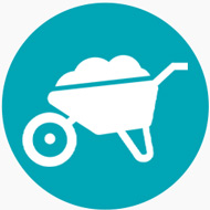 Wheelbarrow Icon | Keep Florida Beautiful: Litter Prevention, Recycling, and Education